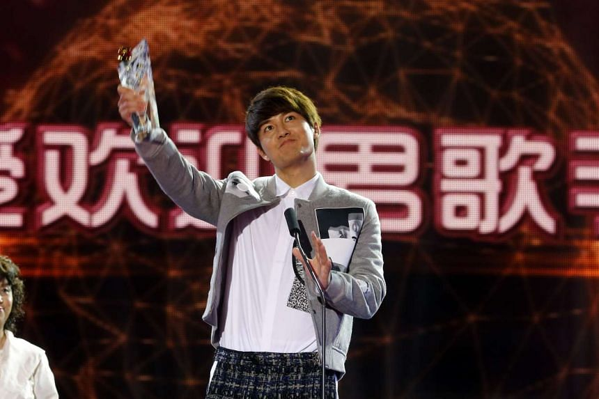 Kenji Wu at the 15th Global Chinese Music Awards ceremony.