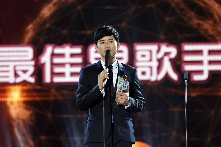 Zhang Jie at the 15th Global Chinese Music Awards ceremony.