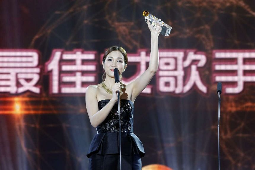Kay Tse at the 15th Global Chinese Music Awards ceremony.