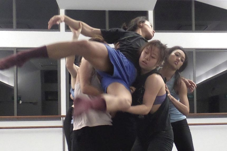 Dancers from Raw Moves' latest production, The Fleeting Moment.