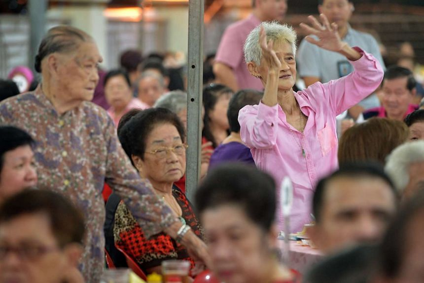 A Teck Ghee resident dancing at the Teck Ghee Active Ageing Night in 2013.