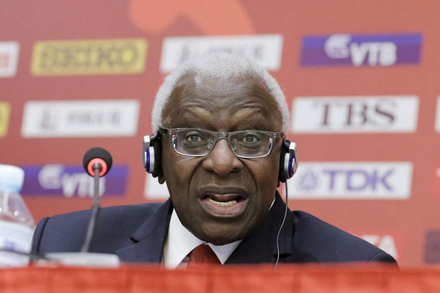 Lamine Diack (above) has been charged with corruption over suspicions he took bribes to cover up doping cases.