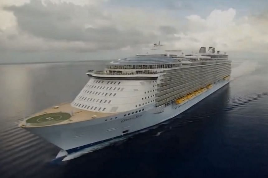 The Oasis of the Seas in a video screenshot.