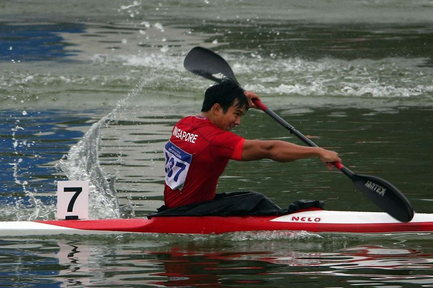 Singapore's Mervyn Toh competing in Incheon, South Korea, in 2014.