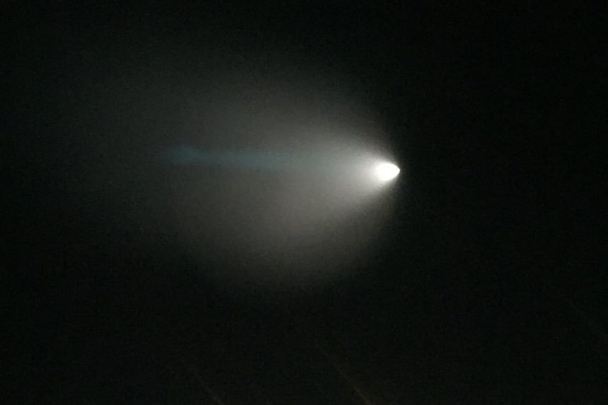 The US Navy was conducting a missile test near California, which some residents thought was a UFO or comet.