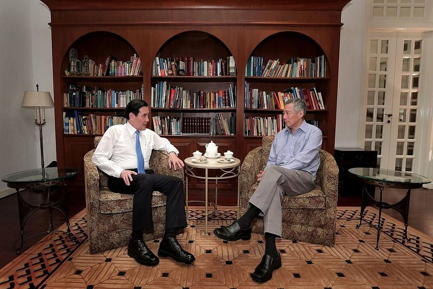 "Prime Minister Lee Hsien Loong met Taiwan President Ma Ying-jeou yesterday, after the landmark China-Taiwan meeting. Mr Lee posted a photo of them on his Facebook page last night and he wrote: ""Caught up with President Ma Ying-jeou over tea this even"