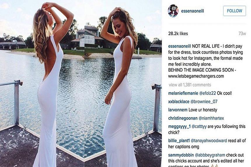 """Before deleting her Instagram account, 19-year-old Essena O'Neill edited some of her posts to reveal the truth. Many of them, she told her 600,000 followers, were paid posts. Her """"candid"""" shots were the result of dozens of carefully orchestrated shoo"""