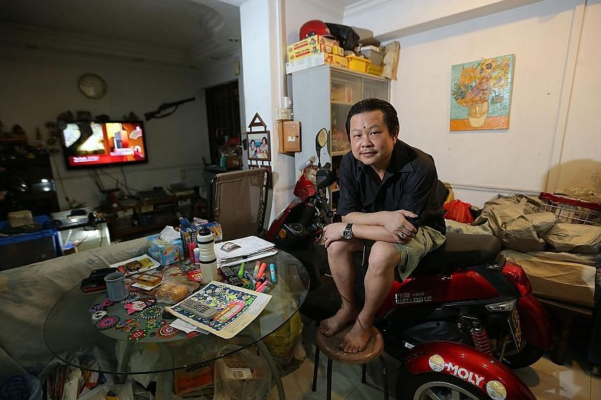 Mr David Chen has had debt collectors banging on the door of his flat, shouting vulgarities and even turning off his flat's electricity supply over money he owed a motoring firm.