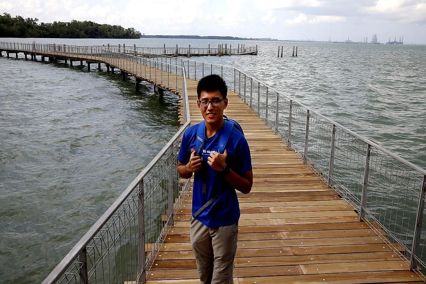Nature lover Jonathan Tan would love to take his Korean friend to the Chek Jawa Wetlands on Pulau Ubin, an island off Changi Point in eastern Singapore.