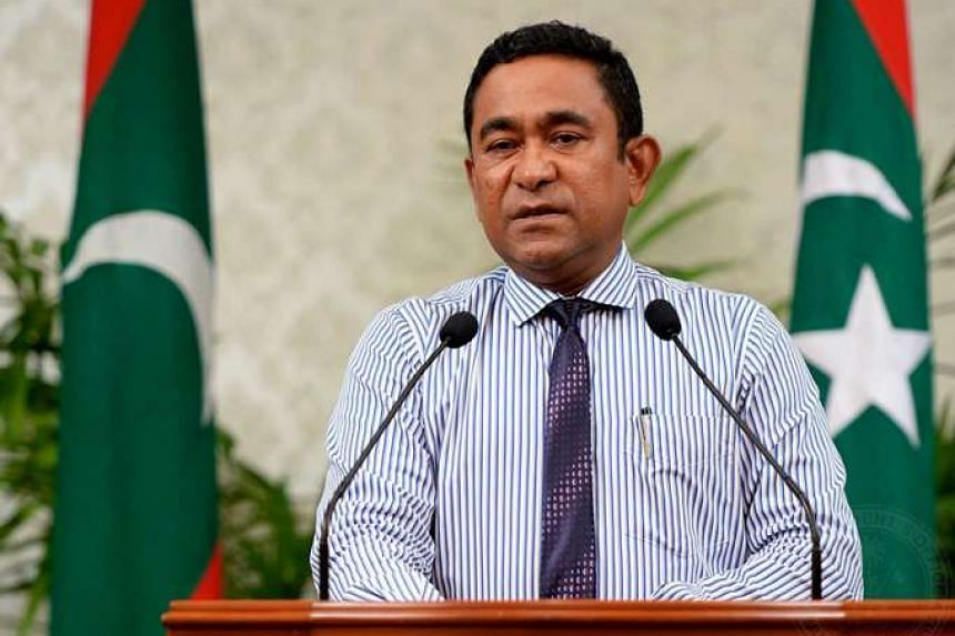 A Sri Lankan has been charged with planning a sniper attack on President Abdulla Yameen (above).