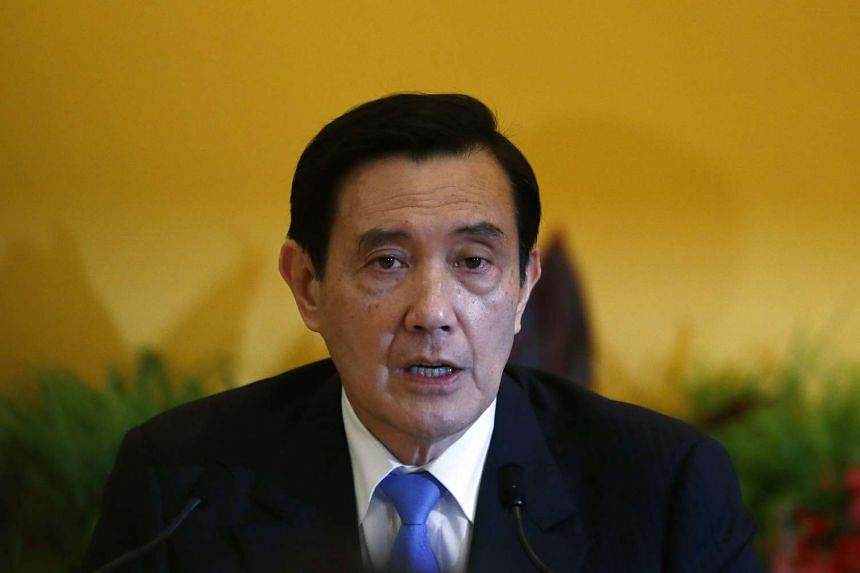 Ma Ying-jeou, Taiwan's president, speaks during a news conference following a meeting with Xi Jinping, China's president, in Singapore, on Nov 7, 2015.