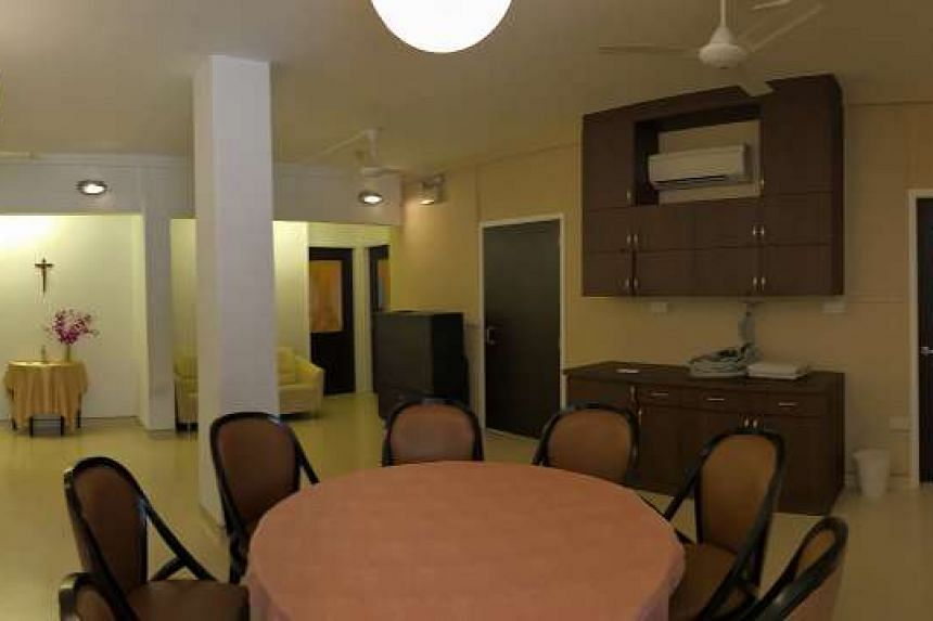 A panoramic shot of the interior of St Bernardette Lifestyle Village, which houses eight elderly residents. Each will pay $3,500 a month, and this includes breakfast, housekeeping and laundry services.