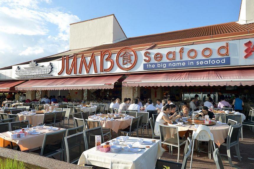 Jumbo Seafood restaurant at East Coast Seafood Centre.