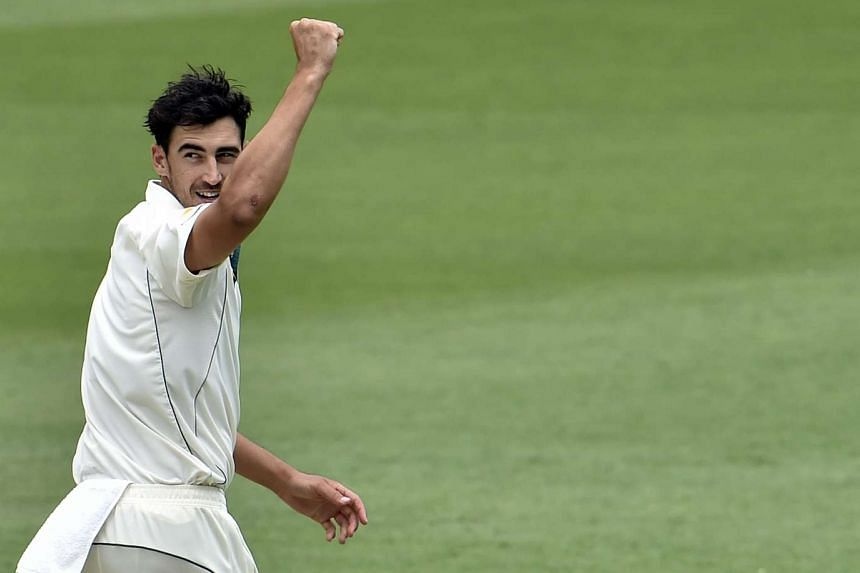 Australia's Mitchell Starc was fined was fined A$7,725 (S$7,756) for throwing a ball dangerously at New Zealand batsman Mark Craig.