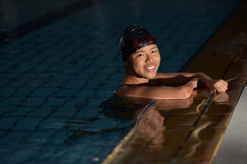 Yip Pin Xiu, Singapore paralympic swimmer, at Farrer Park Swimming Pool.