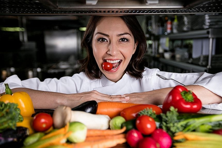 Chef Angela May focuses on vegetables.