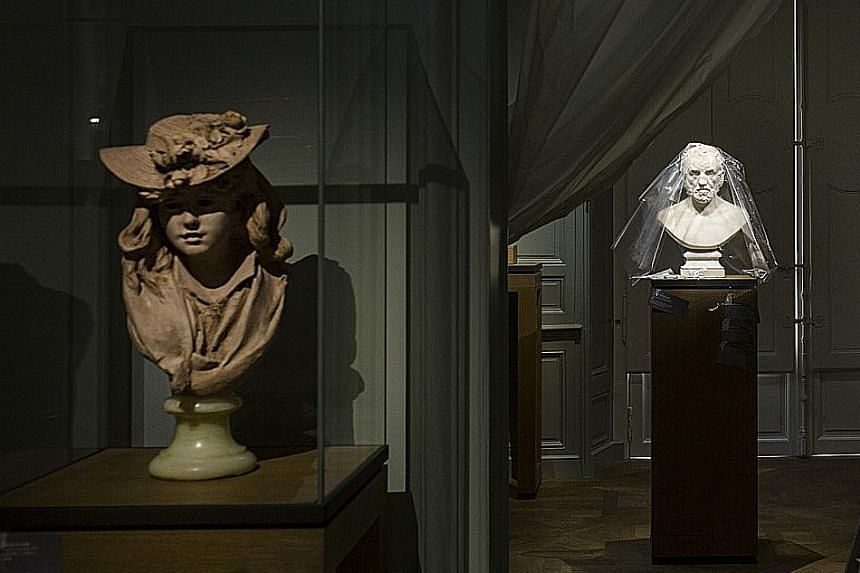 Inside the Rodin Museum, where a public reopening is scheduled for the artist's birthday.