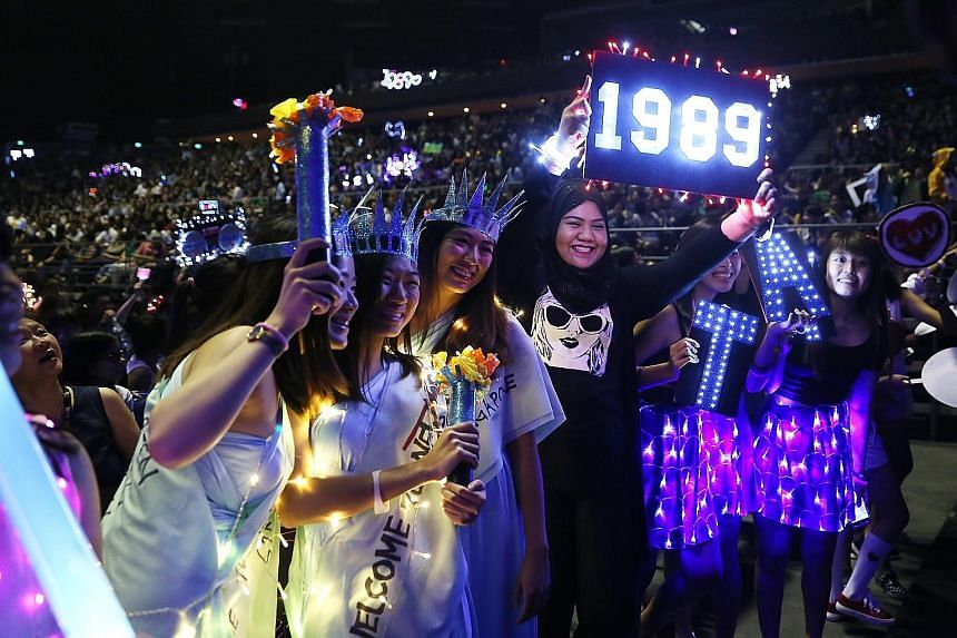 The pop star's fans wiped out all the tickets for her two shows here over the weekend and turned up in bright costumes and with neon-lit banners.