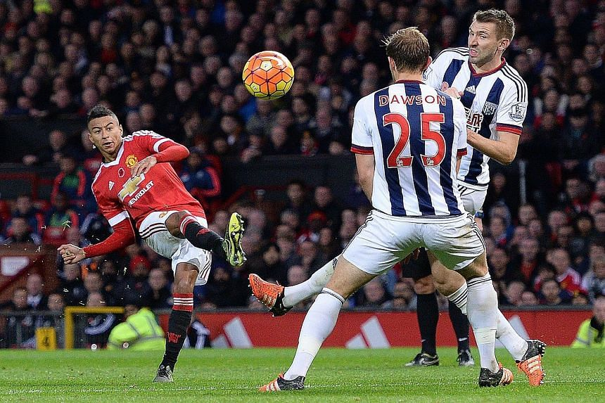 Jesse Lingard's first goal for Manchester United laid the foundation for their 2-1 victory against West Brom on Saturday.