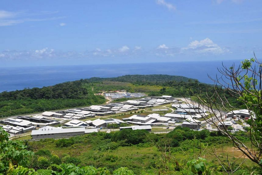 An aerial view of the Christmas Island detention centre in Australia.