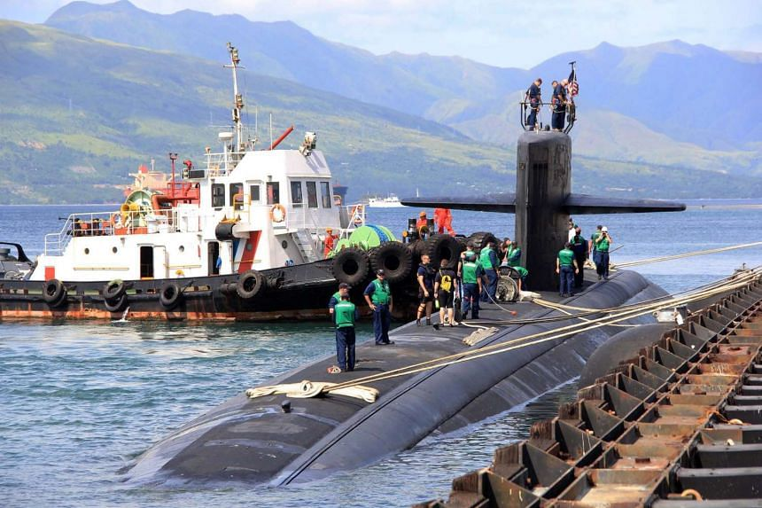 The USS Key West sitting in dock at Subic Bay, in Zambales province, the Philippines, on Nov 4, 2015.