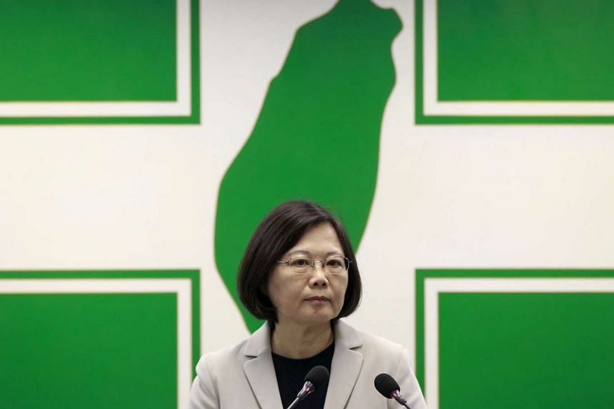 Ms Tsai Ing-wen giving a speech before the central standing committee in Taipei, Taiwan, on Nov 4, 2015.