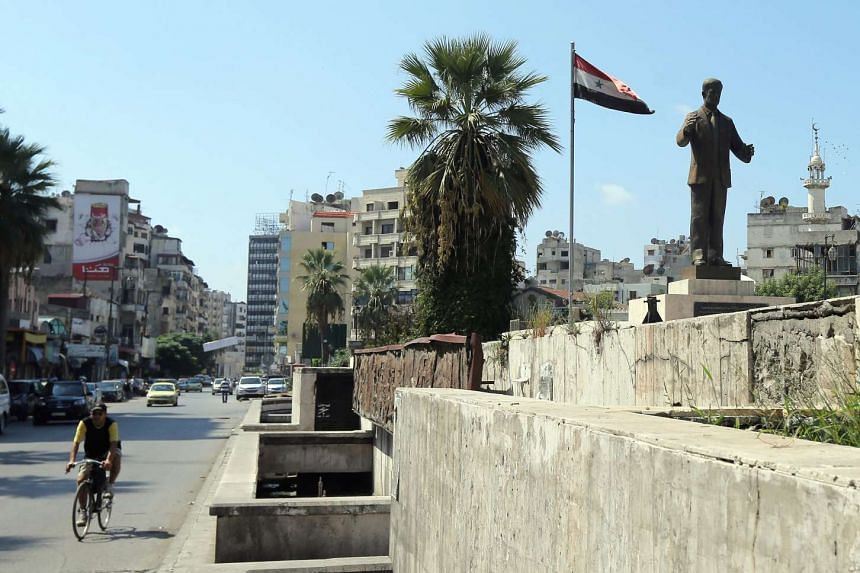 At least 22 people were killed and 62 wounded in a mortar attack on Latakia, Syria (pictured).