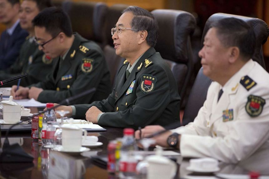 People's Liberation Army chief of staff Fang Fenghui (centre).