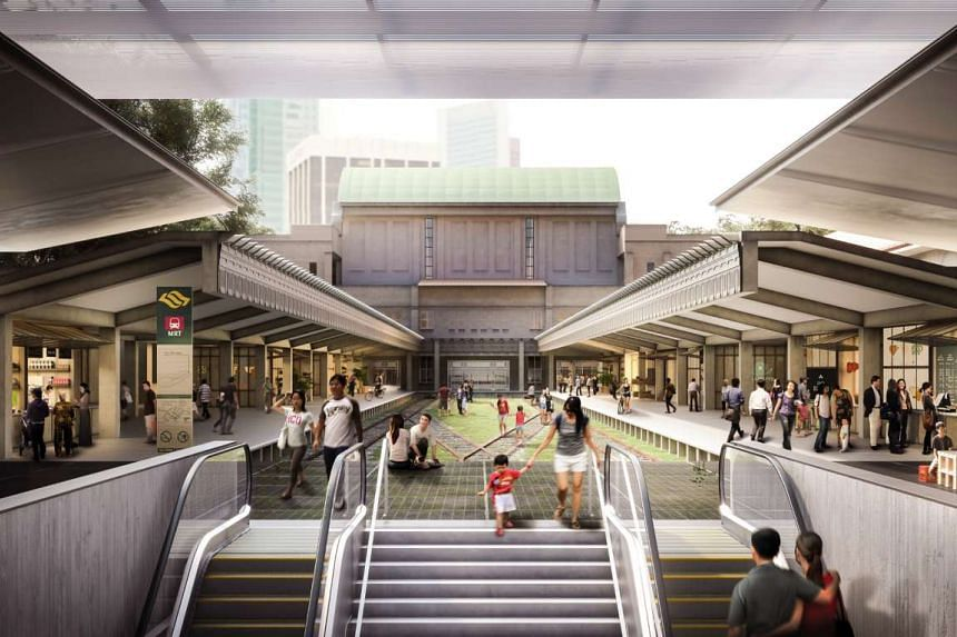 Concept design of adaptive reuse of Tanjong Pagar Railway Station.