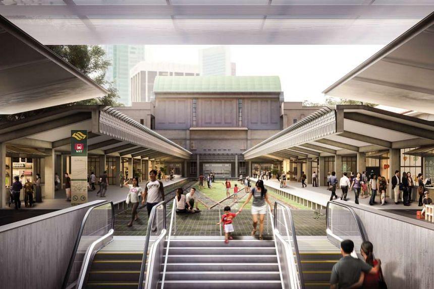 Concept design of adaptive reuse of Tanjong Pagar Railway Station.