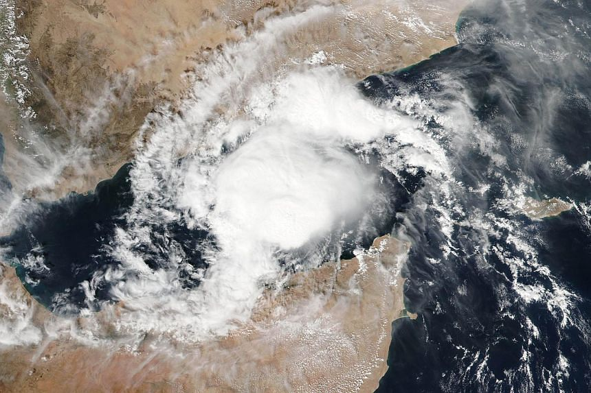 This Nov 9, 2015 Nasa satellite photograph shows Tropical Cyclone Megh in the Gulf of Aden.