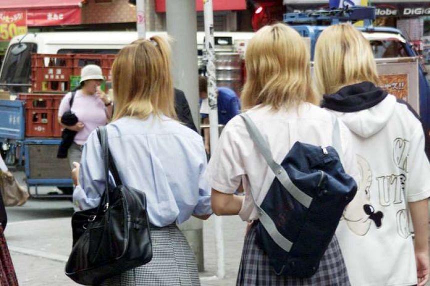 Schoolgirls in Japan.