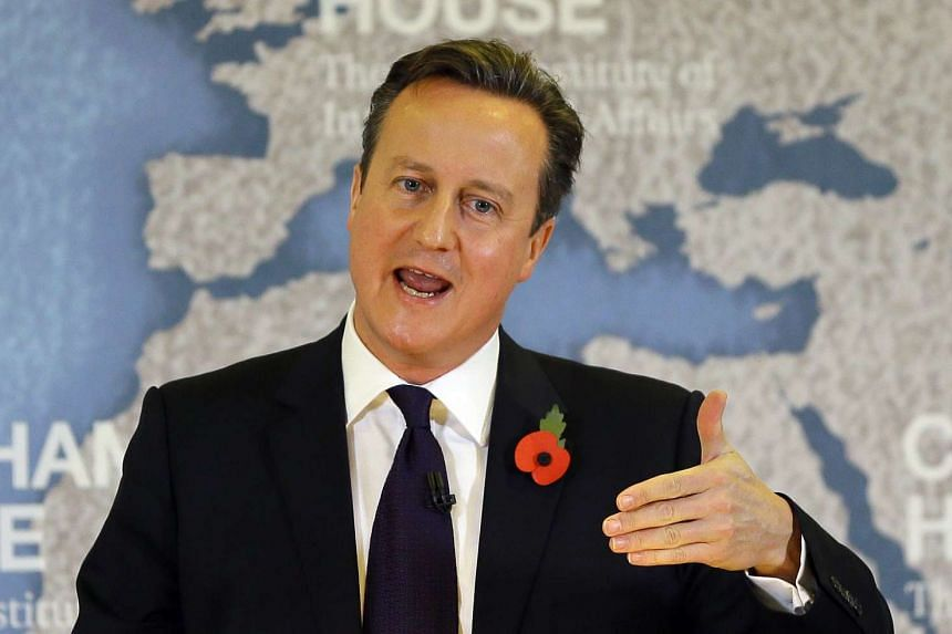 British Prime Minister David Cameron speaks on EU renegotiation at Chatham House on Tuesday.