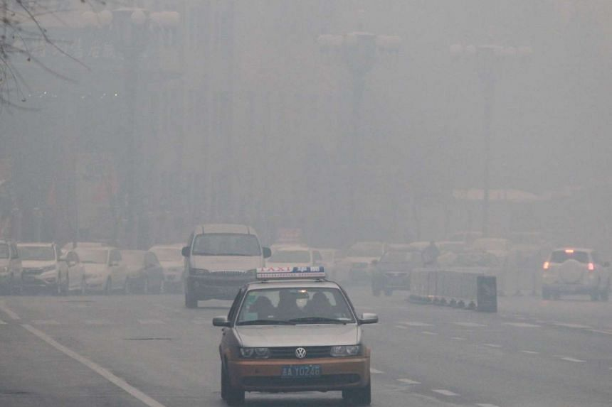 Levels of PM2.5 particles hit 860 micrograms per cubic metre in Changchun yesterday. It was blamed on energy use for heating, as winter sets in.