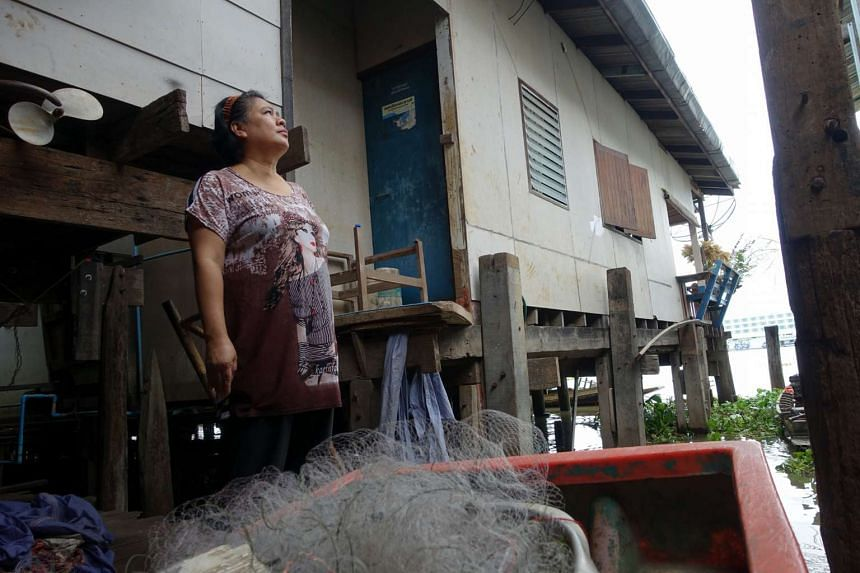 Ms Pongsi Buasi, 47, one of the community leaders in the Baan Yuan community on the eastern bank of the Chao Phraya River, says she would prefer her riverside village to be conserved as a tourist attraction. Bangkok officials have, however, indicated
