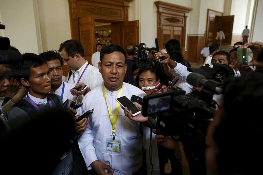 """Information Minsiter Ye Htut vowed to """"respect and obey the decision of the electorate""""."""
