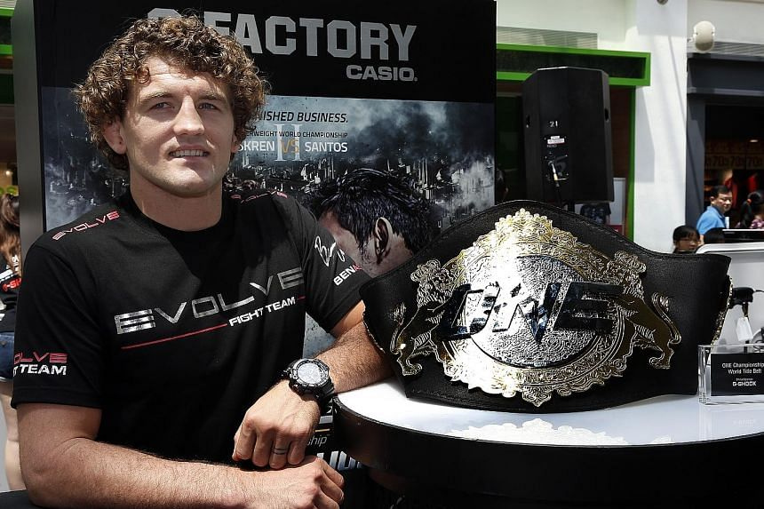 Ben Askren is the ONE Championship welterweight world champion with a 14-0 record. He will face off against Luis Santos on Friday.