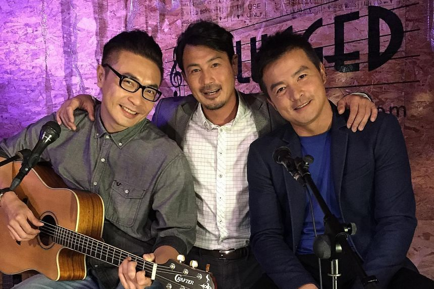 Three friends - (from left) Tay Ping Hui, Darren Lim and Christopher Lee - struggle to keep a record label afloat.