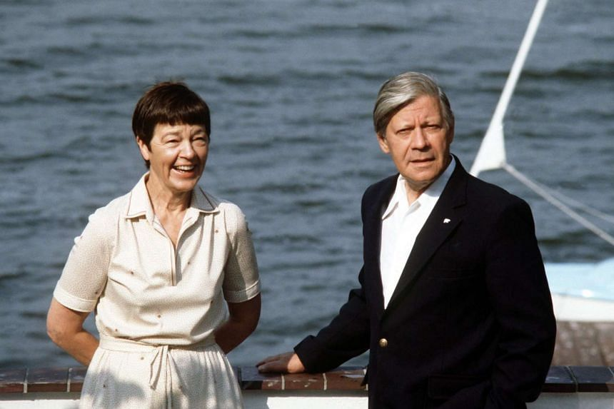 A photo taken on Aug 1, 1982 showing German Chancellor Helmut Schmidt and his wife Loki at the Brahmsee, northern Germany. The 96-year-old elder statesman died on Nov 10, 2015.
