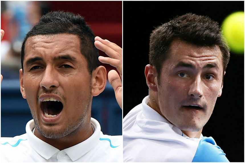 Australian tennis stars Nick Kyrgios (left) and Bernard Tomic have been left off the list of nominees for the country's Newcombe Medal.
