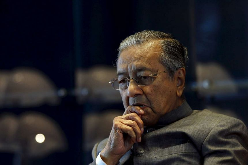 Malaysia's former PM Mahathir Mohamad during an interview on Oct 22, 2015.