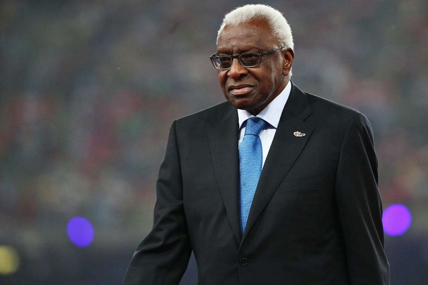 Lamine Diack (above) has resigned as president of the International Athletics Foundation.