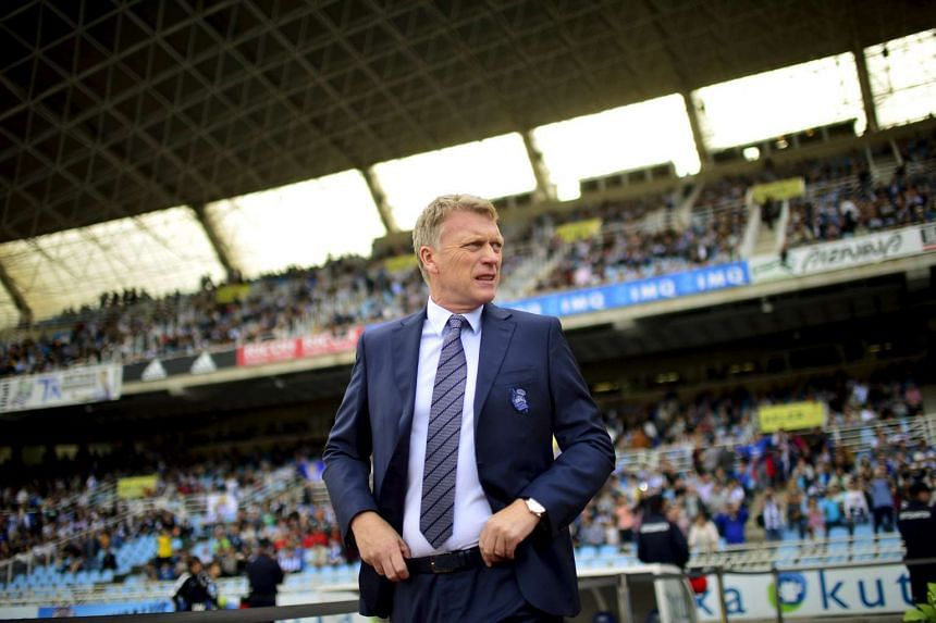 David Moyes looks on before the Spanish first division football match between Real Sociedad and Atletico Madrid.