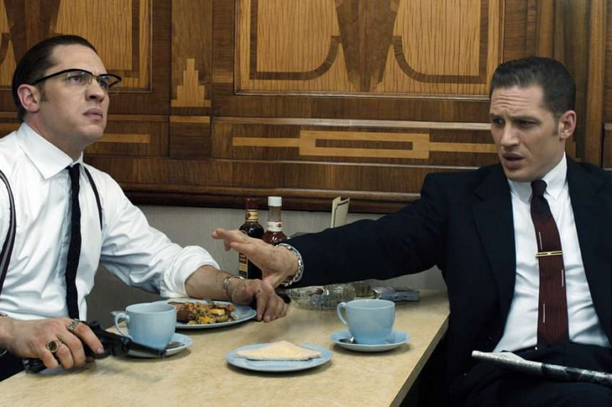 Tom Hardy plays the roles of both Ronnie (left) and Reggie (right) Kray in Legend.