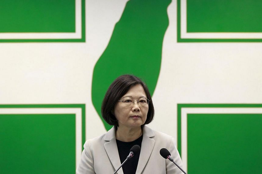 Taiwan's Democratic Progressive Party (DPP) Chairperson Tsai Ing-wen gives a speech in Taipei, Taiwan on Nov 4, 2015.