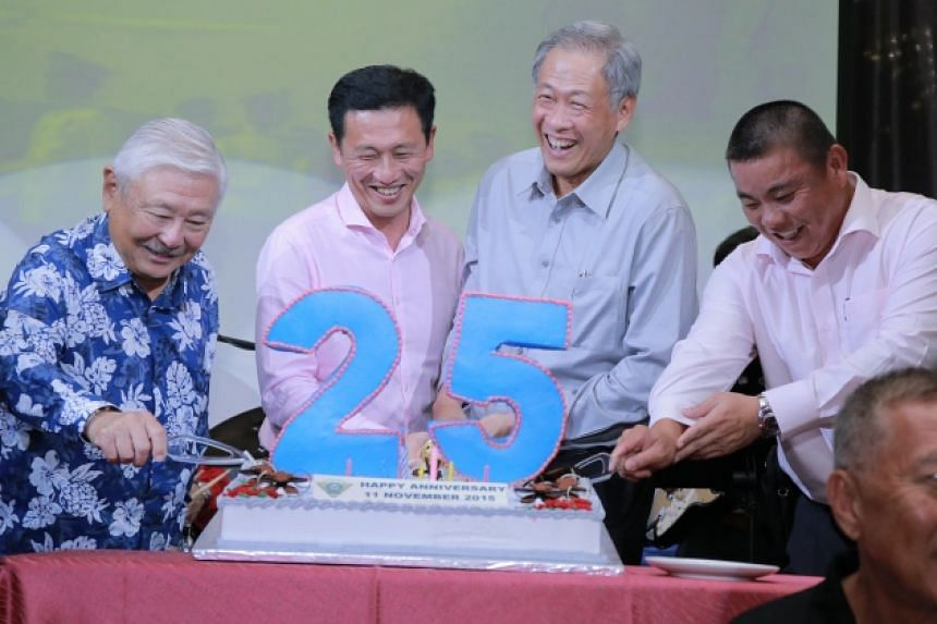 (From left) LG (Ret) Winston Choo, Senior Minister of State for Defence Ong Ye Kung, Minister for Defence Dr Ng Eng Hen and President of SAFVL BG (NS) Winston Toh.
