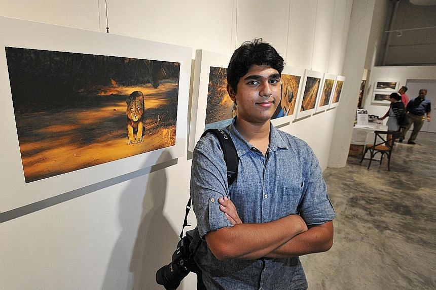 Dhruv Anant Wadkar, 16, is holding an exhibition of his work this week.