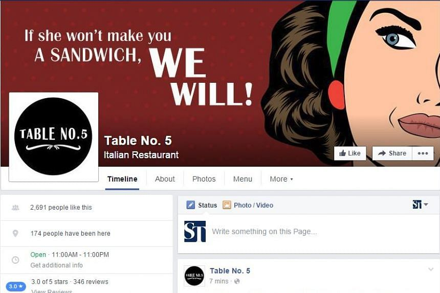 Table No. 5, a cafe in Islamabad, Pakistan, found itself in the news after uploading images that were deemed misogynistic to its Facebook page.