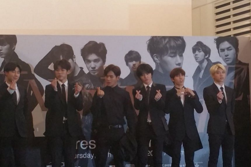K-pop band Infinite at City Square Mall on Nov 13, 2015.