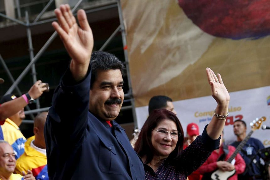 Venezuela's President Nicolas Maduro and his wife Cilia Flores, whose nephews have been indicted.